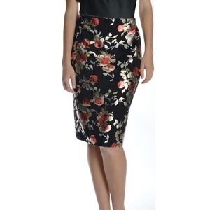 Nycc Women's Foiled Knee Length Floral skirt